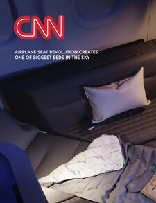 Airplane seat revolution creates one of biggest beds in the sky