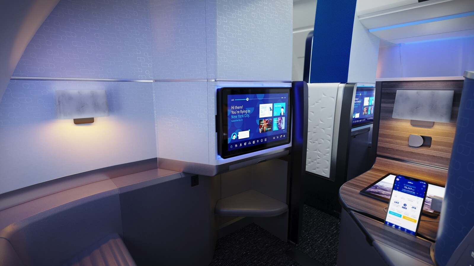Jetblue mint studio seated view
