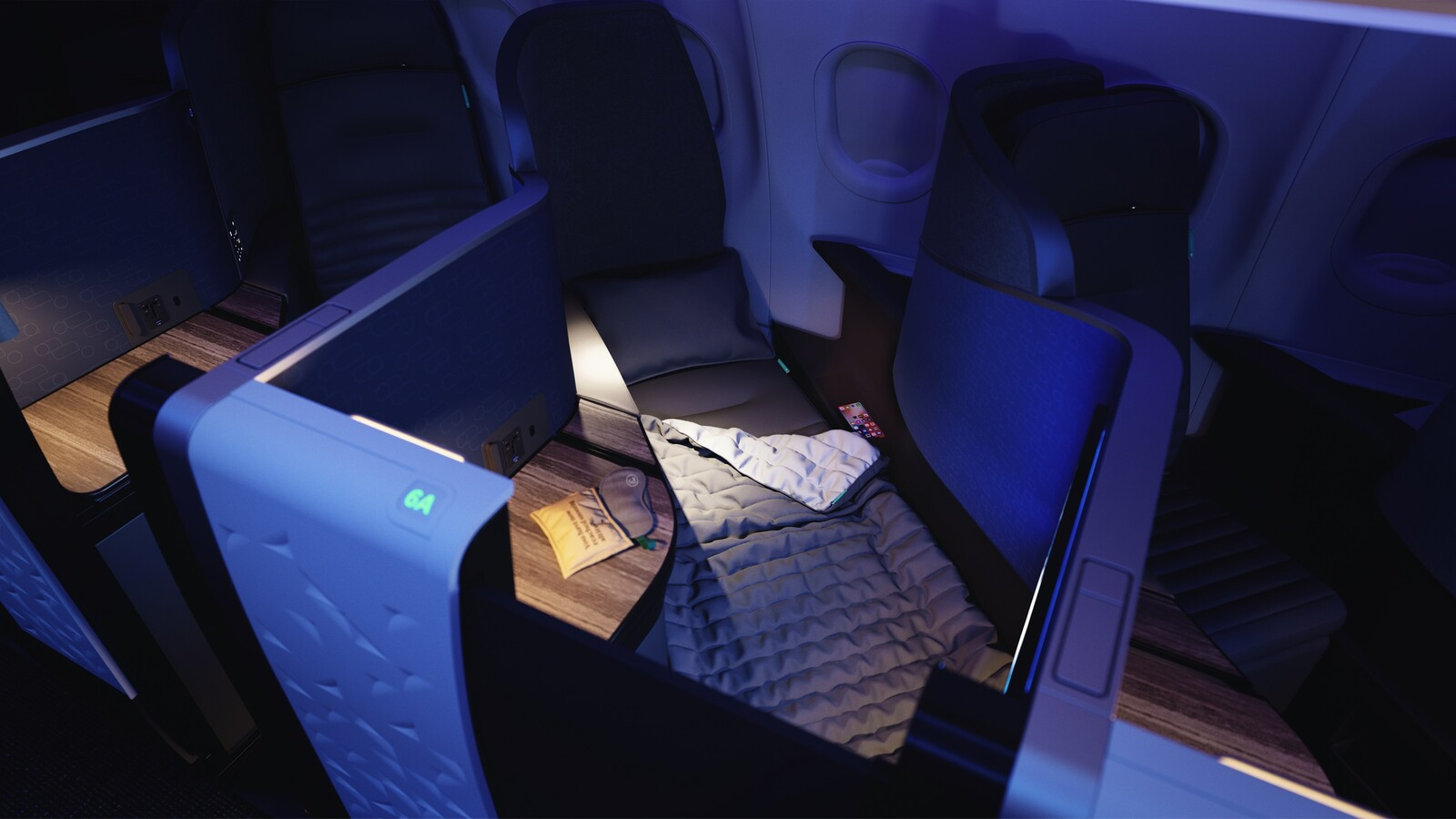 Jetblue mint suite tuft needle sleep experience